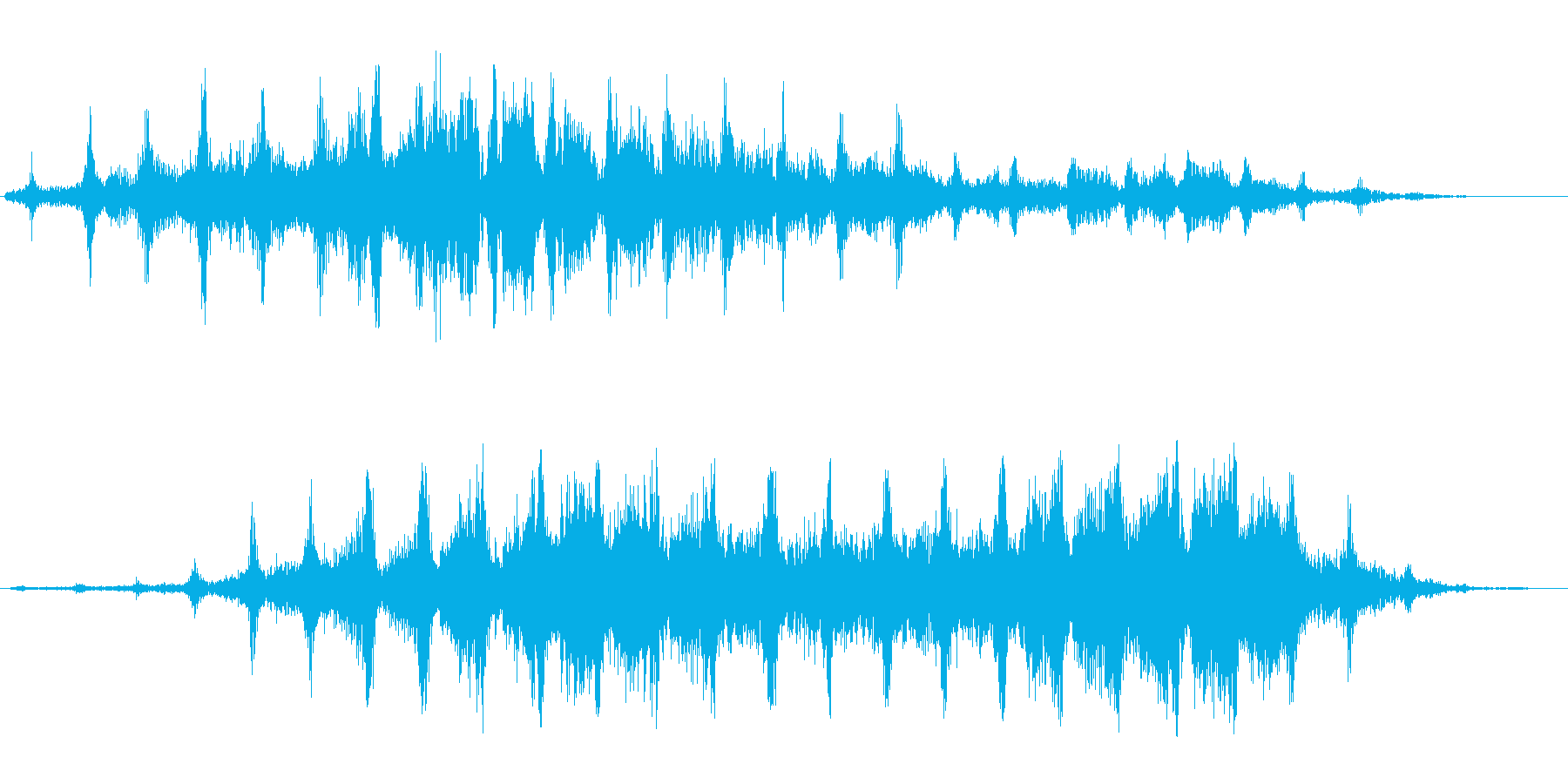 シャシャシャ(高い刻みのついた効果音)の再生済みの波形
