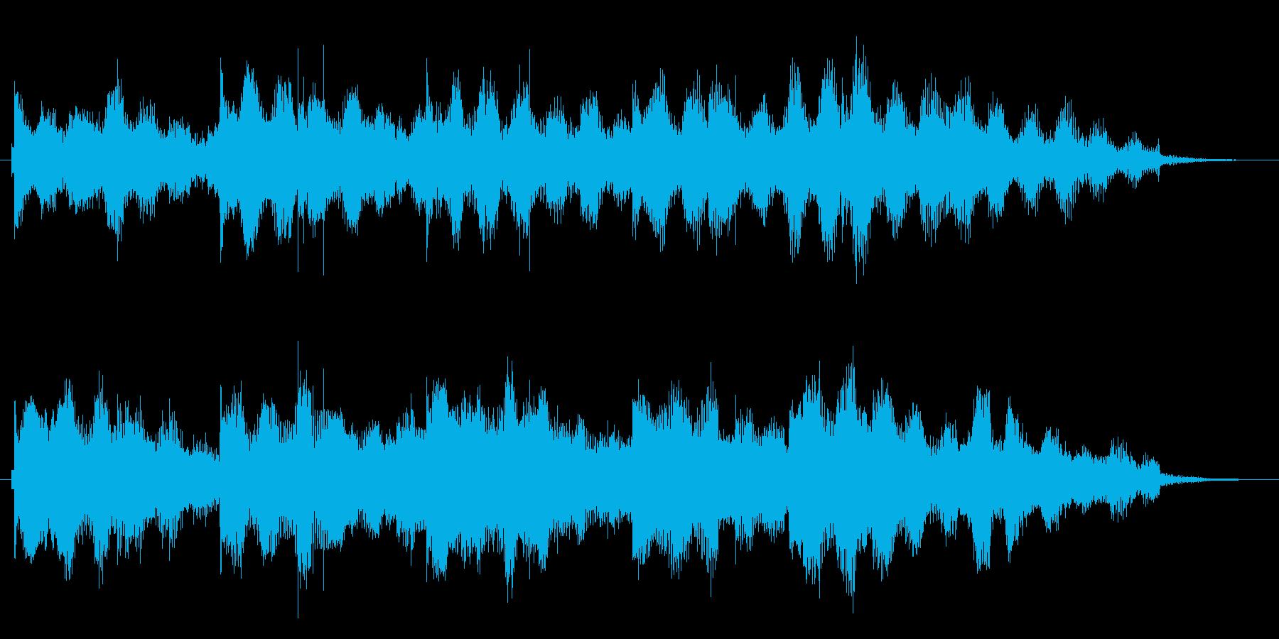 15秒ぴったりのスローなジングルです。の再生済みの波形