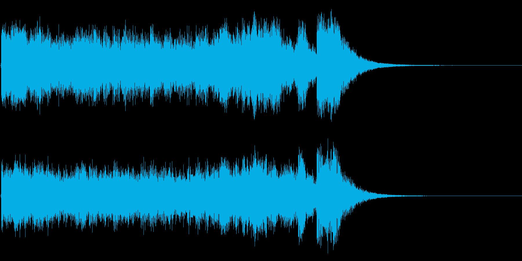 派手でアップテンポなアイキャッチの再生済みの波形