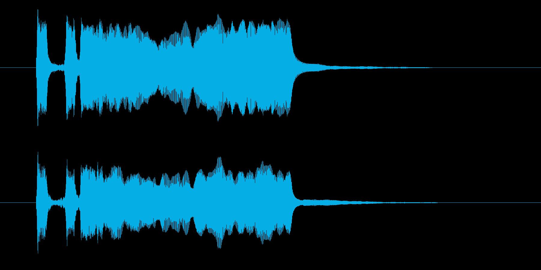 パッパパー(衝撃的な登場音)の再生済みの波形