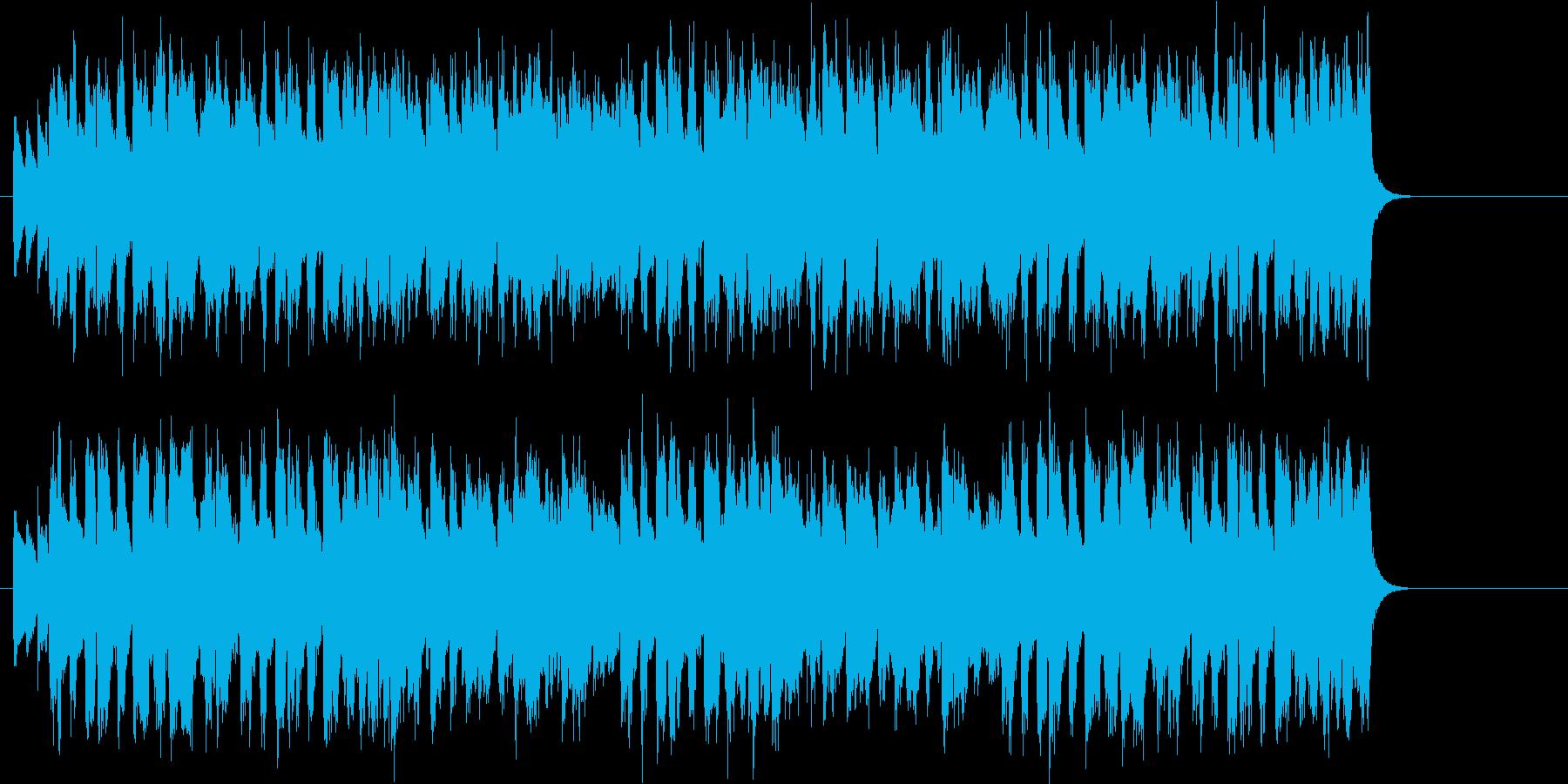 ビッグ・バンド風スィングジャズの再生済みの波形