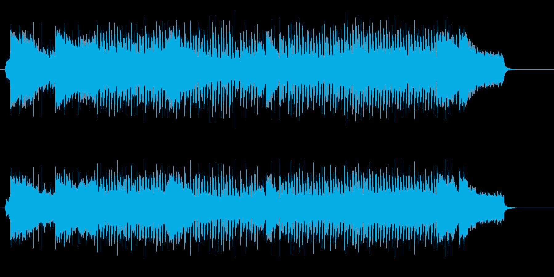 明るくさわやかな朝の活動にお似合いの曲の再生済みの波形