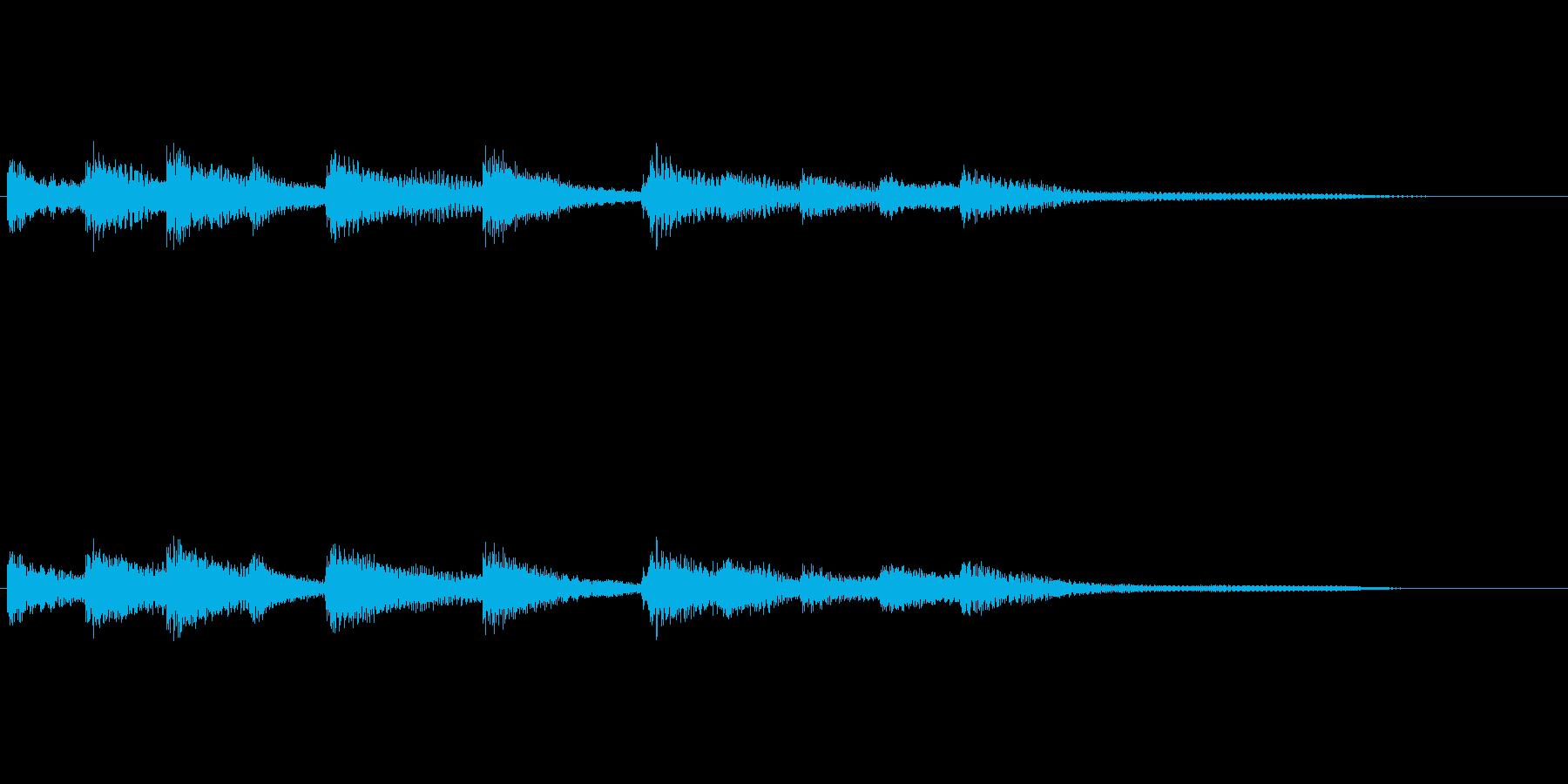 ゆったりしたピアノのショートソングの再生済みの波形