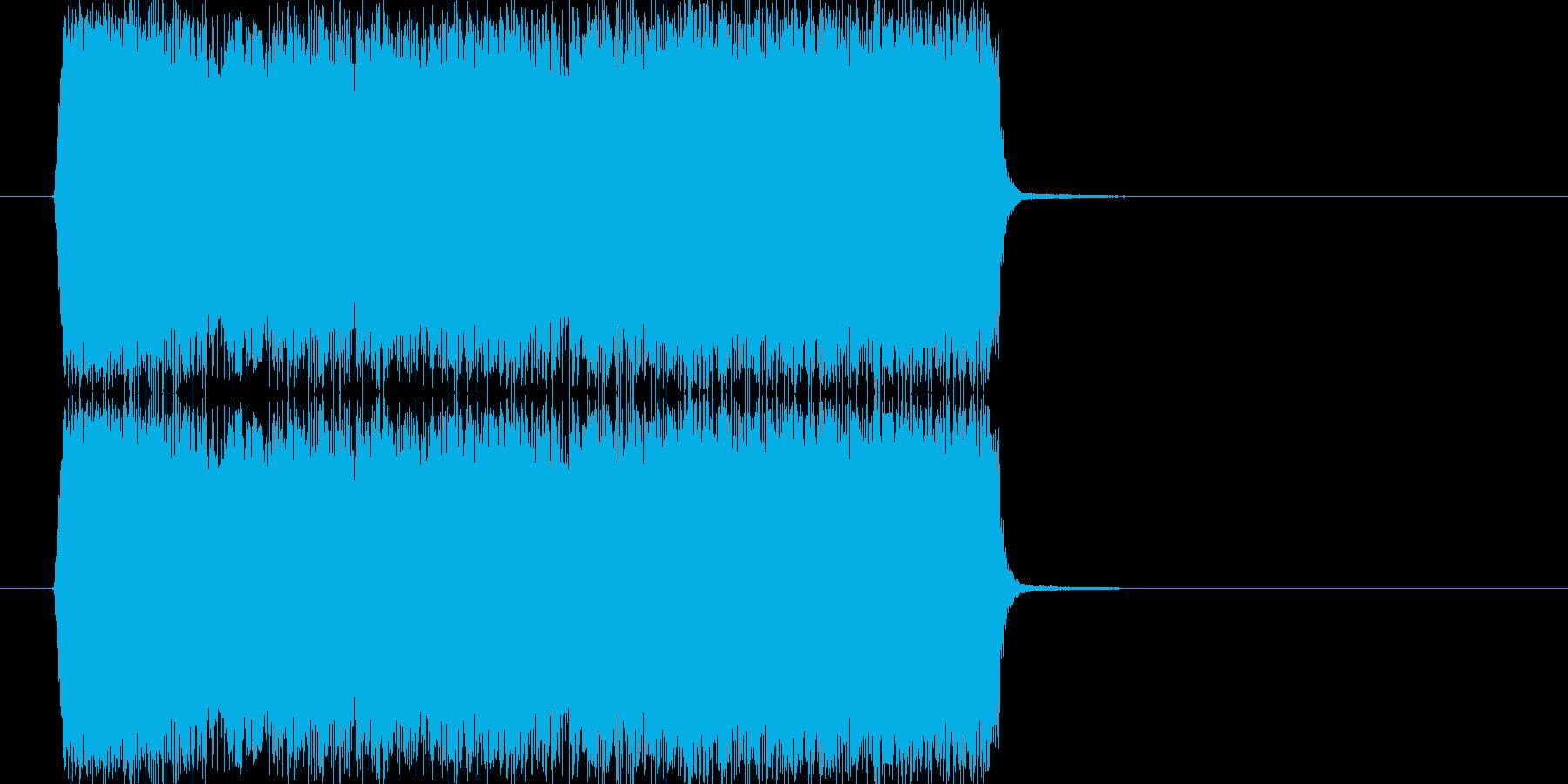 シュー(スプレーを吹きつける音)の再生済みの波形