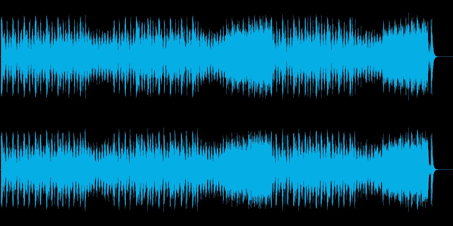 パーカッシヴなアフロ・ミュージック風の再生済みの波形