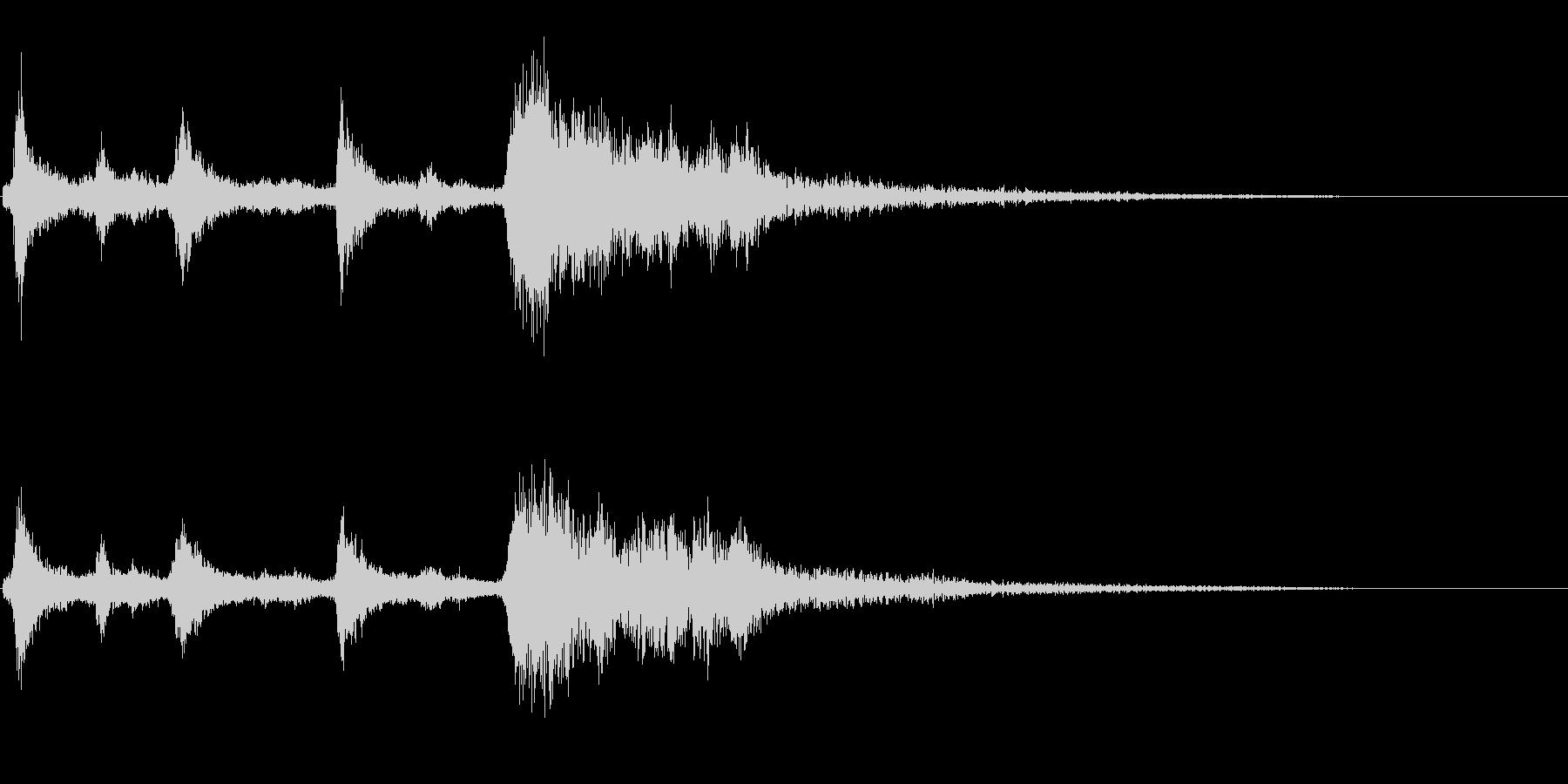 クリスマスのベル、鈴の効果音 ロゴ 11の未再生の波形