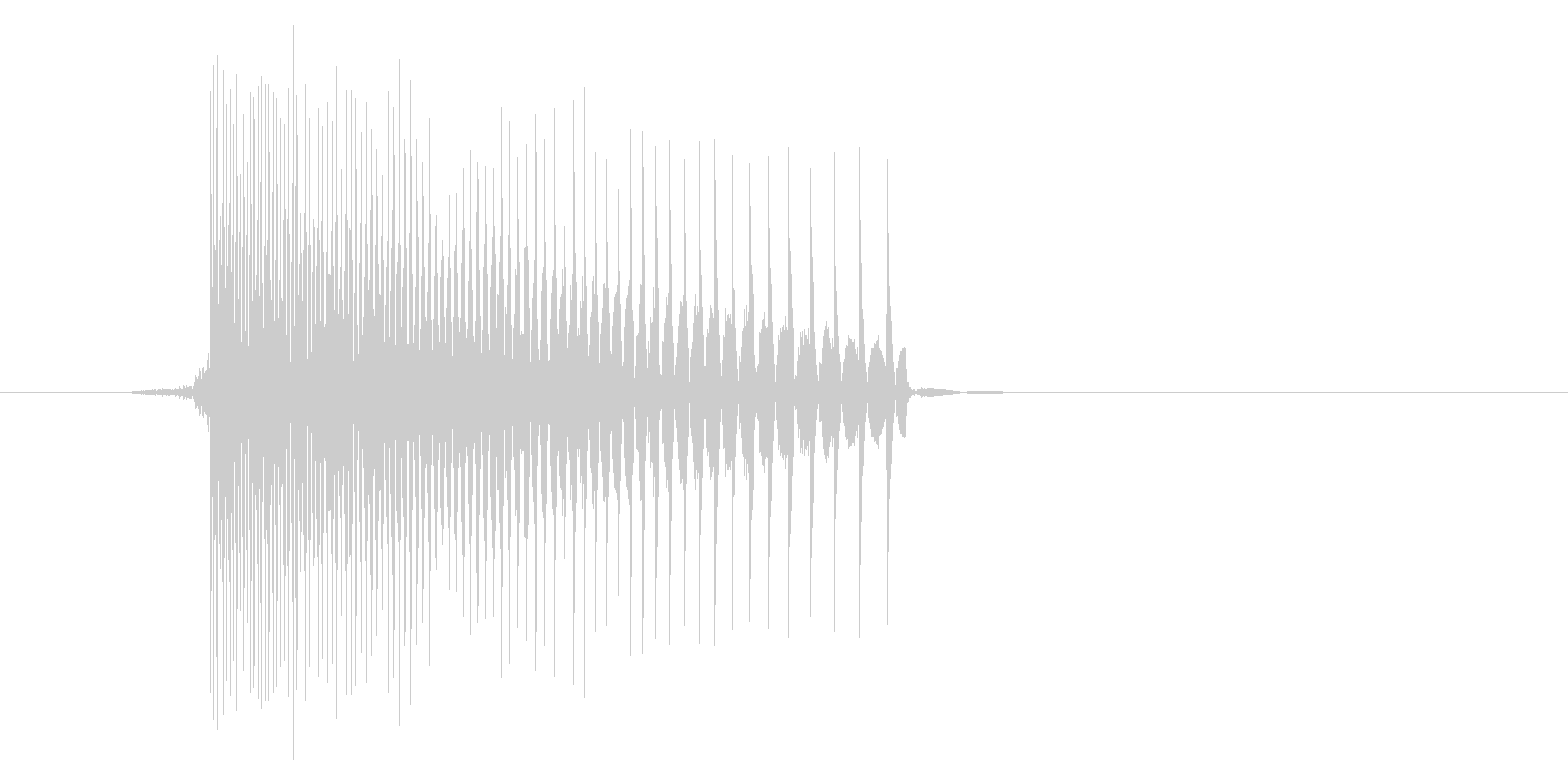 ゲーム(ファミコン風)レーザー音_025の未再生の波形