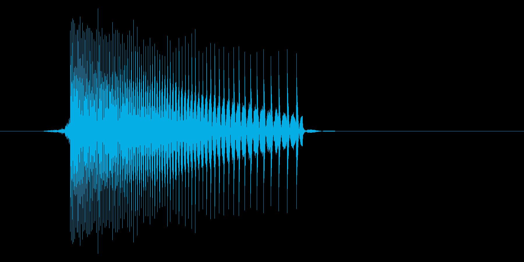 ゲーム(ファミコン風)レーザー音_025の再生済みの波形