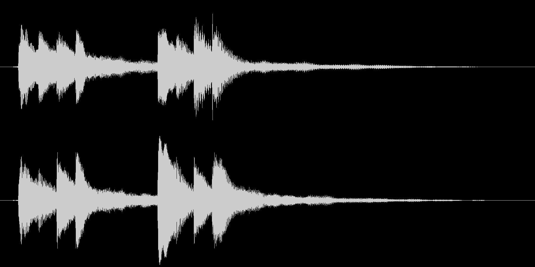 溶けていくようなイメージのピアノジングルの未再生の波形