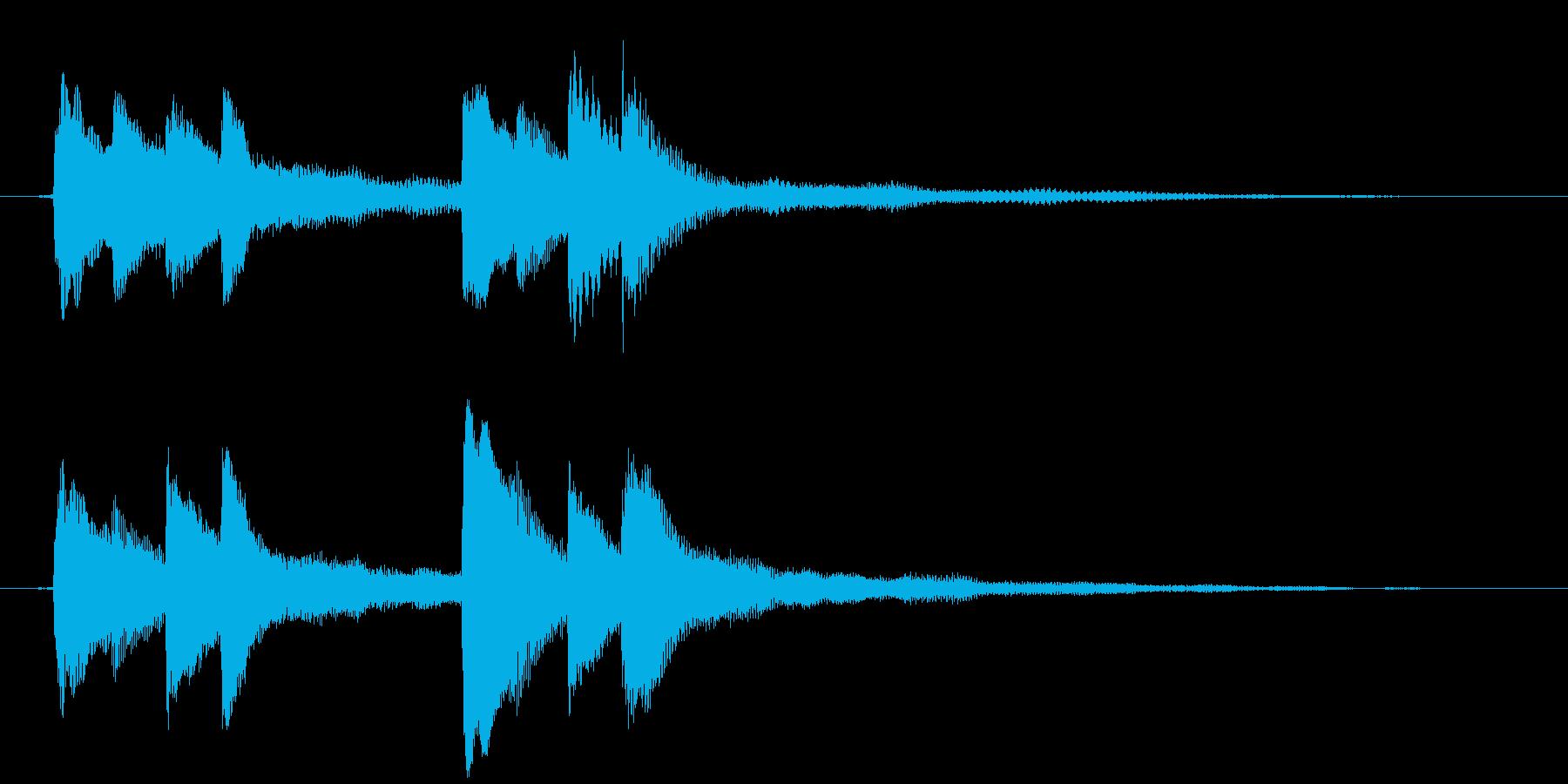 溶けていくようなイメージのピアノジングルの再生済みの波形