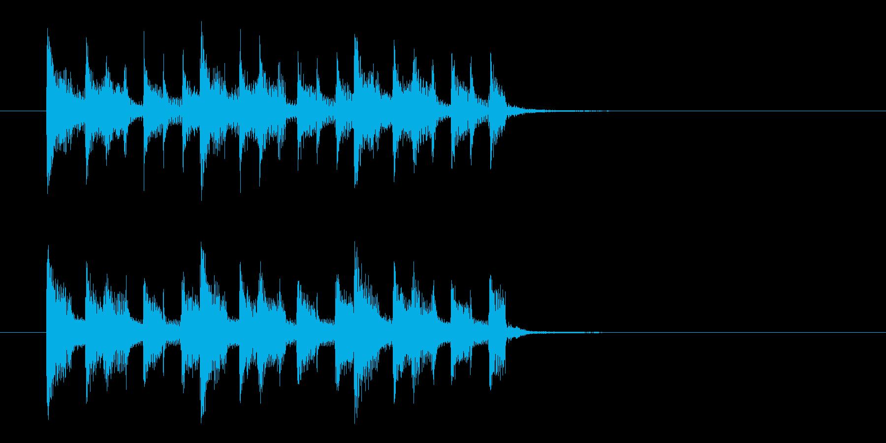 不思議でキャッチ―なシンセジングルの再生済みの波形