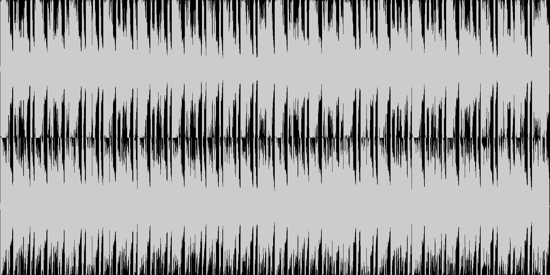 明るいサンバっぽいハウスの未再生の波形