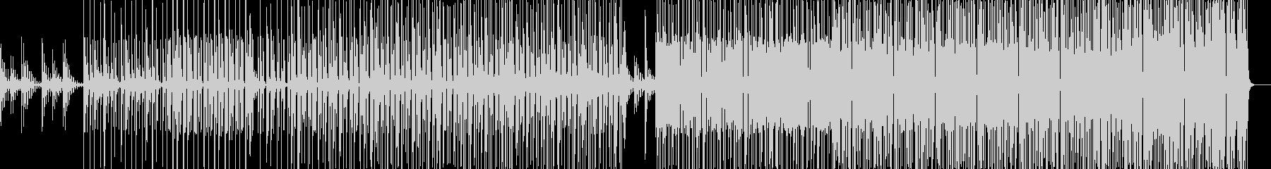 実験的エレクトロヒップホップの未再生の波形