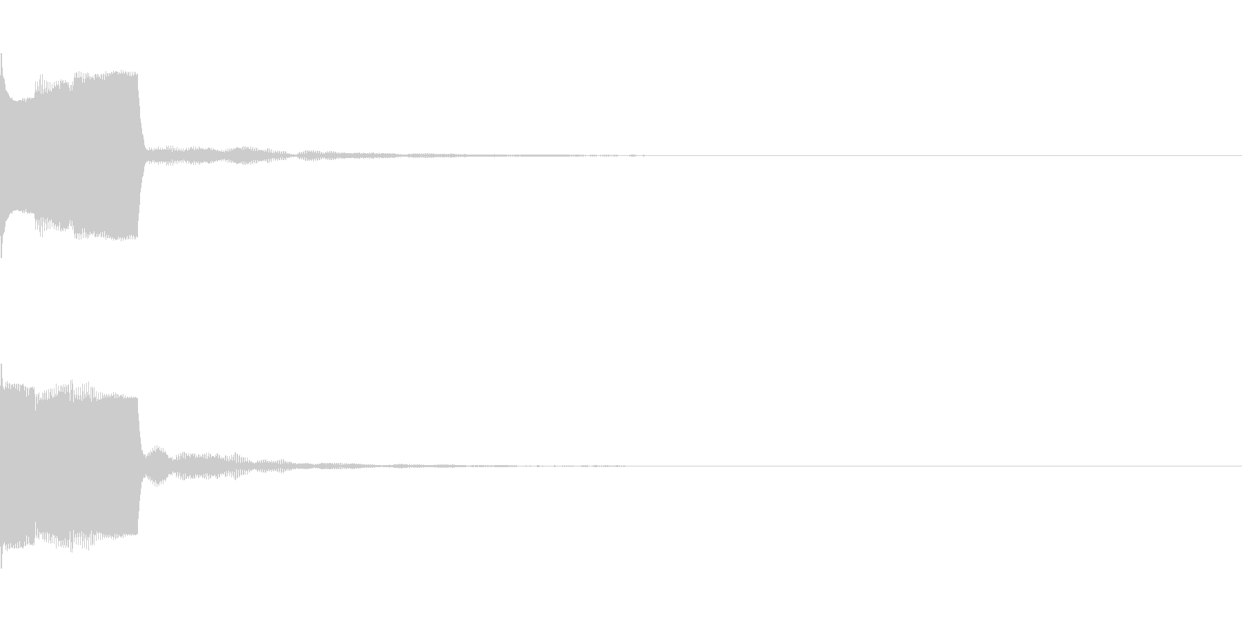 決定音27(シンセO)の未再生の波形