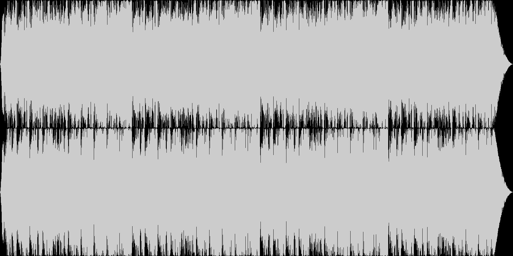 広がっていくイメージ、スローテンポの未再生の波形