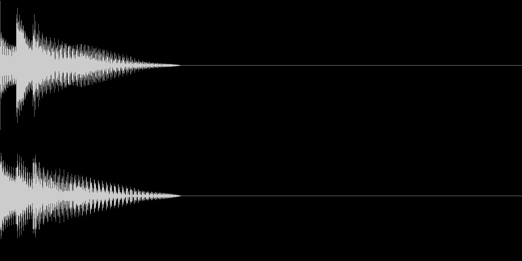 Cursor セレクト・カーソルの音12の未再生の波形