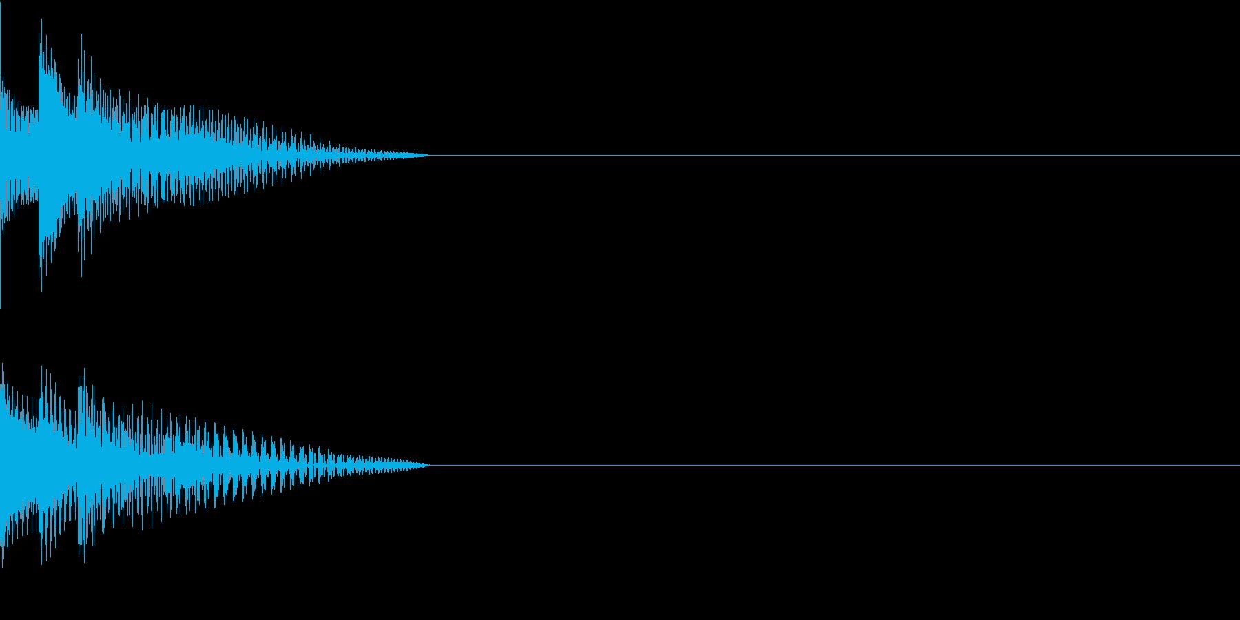 Cursor セレクト・カーソルの音12の再生済みの波形