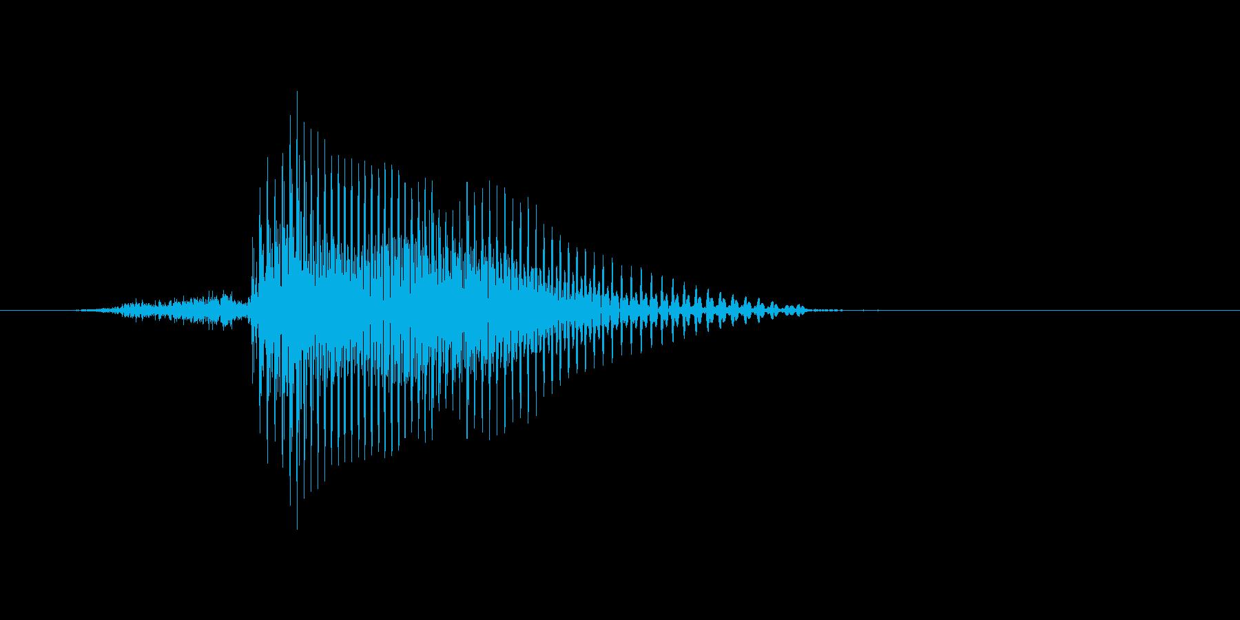 サインの再生済みの波形