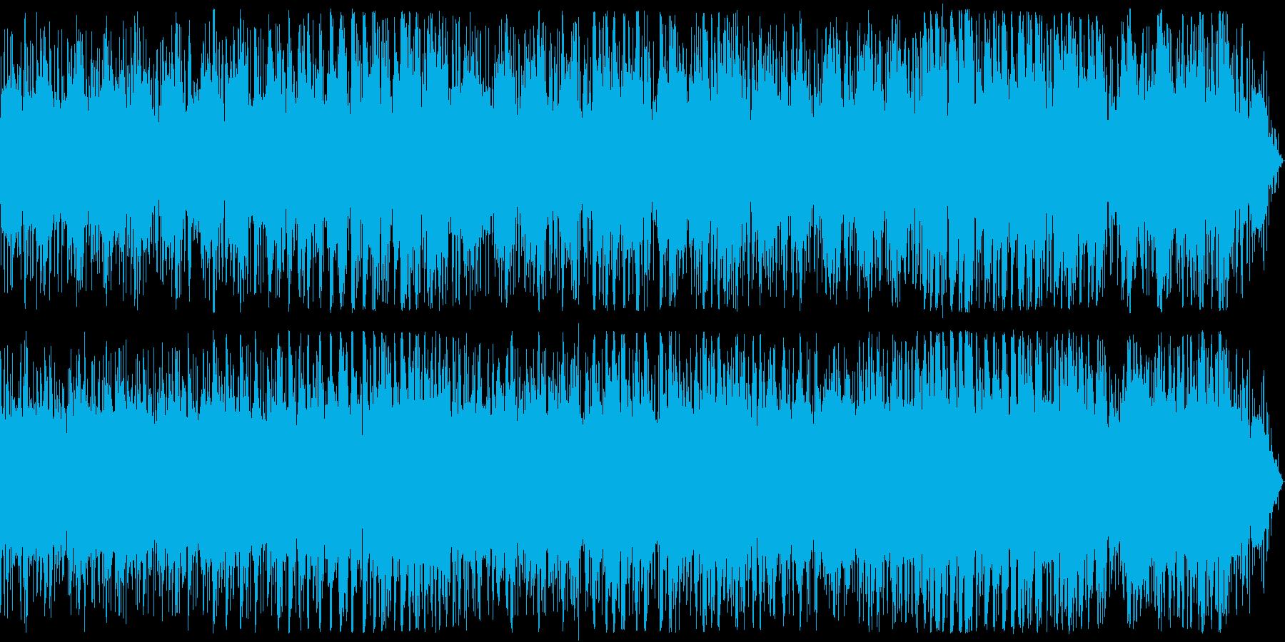 ピアノとノイズ音のエレクトロニカAの再生済みの波形
