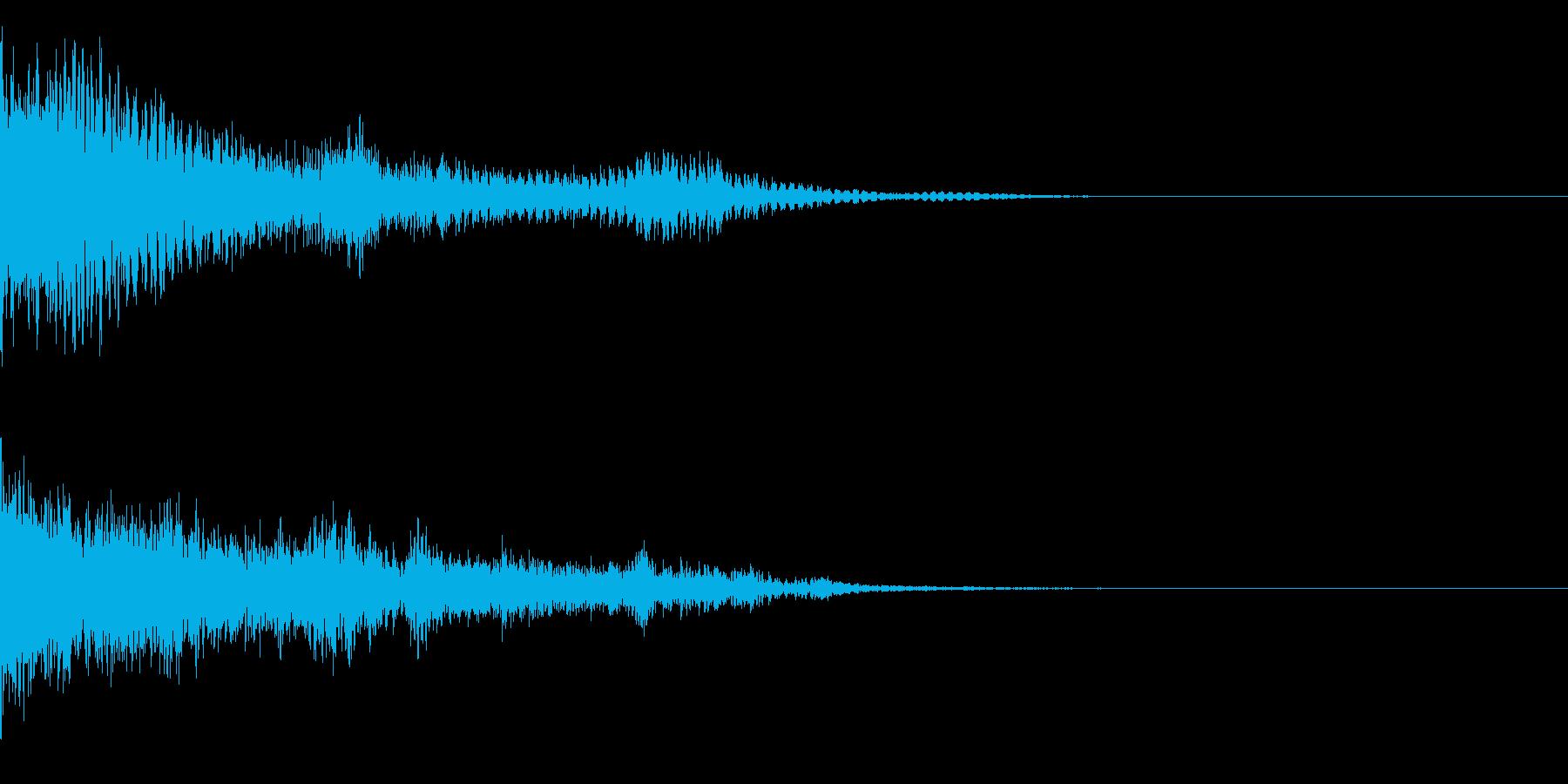 ディヨョョョョョ~ンの再生済みの波形