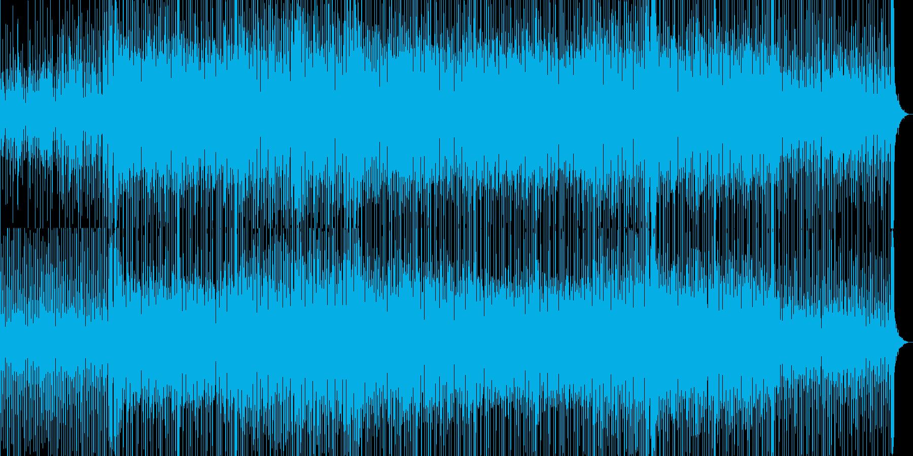 耳に残るリフが印象的なBGMの再生済みの波形