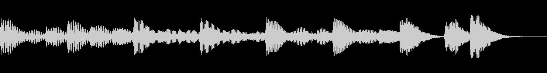 木琴で可愛らしく短いジングル。の未再生の波形