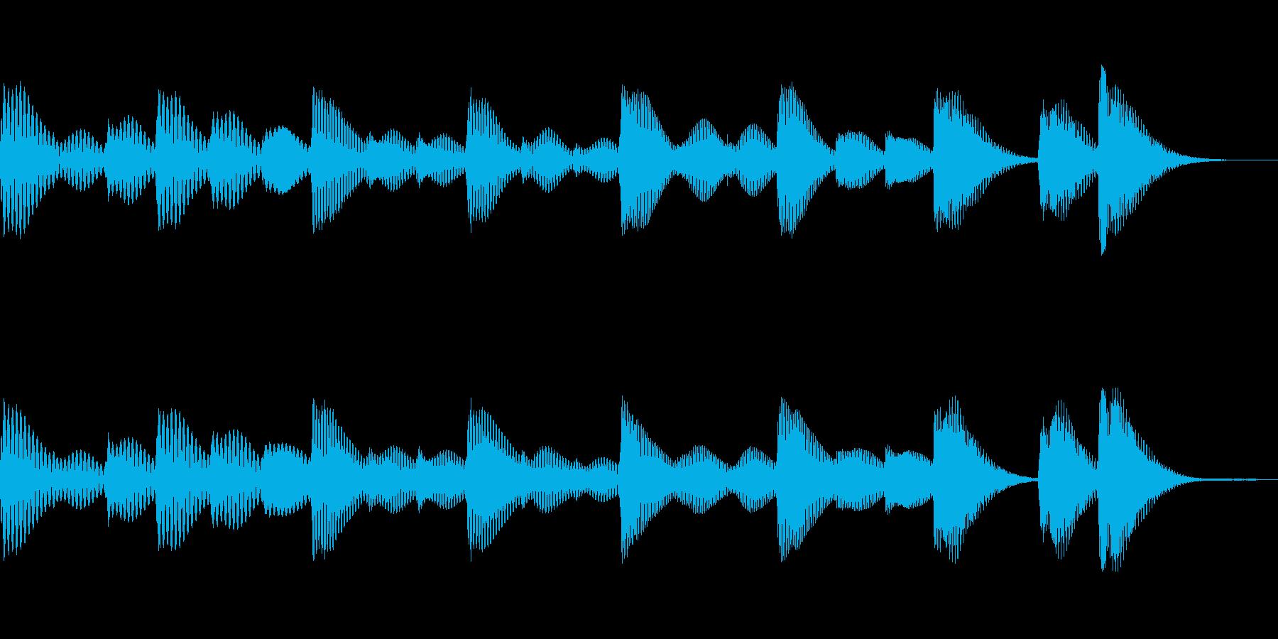 木琴で可愛らしく短いジングル。の再生済みの波形