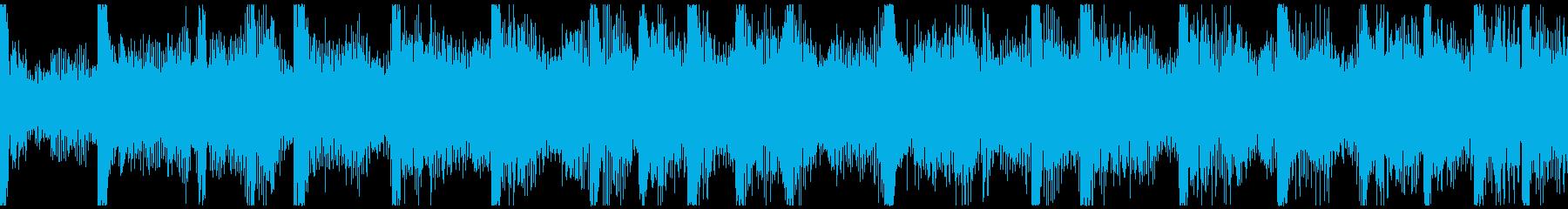 企業紹介映像、近未来系エレクトロループ3の再生済みの波形