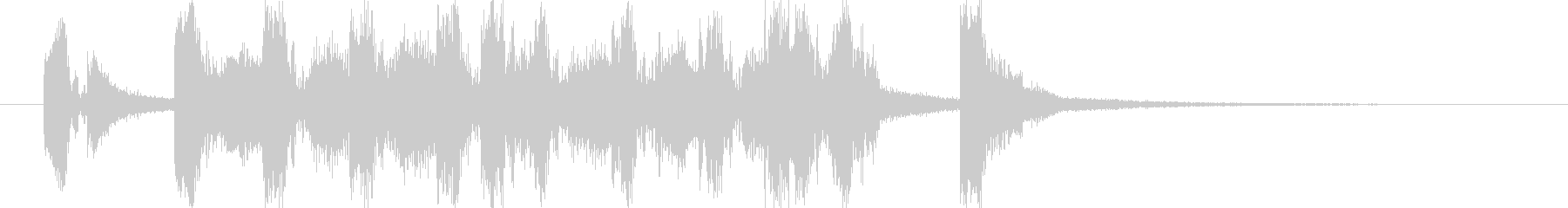 ポップな4つ打ち系ジングル(5秒版)の未再生の波形