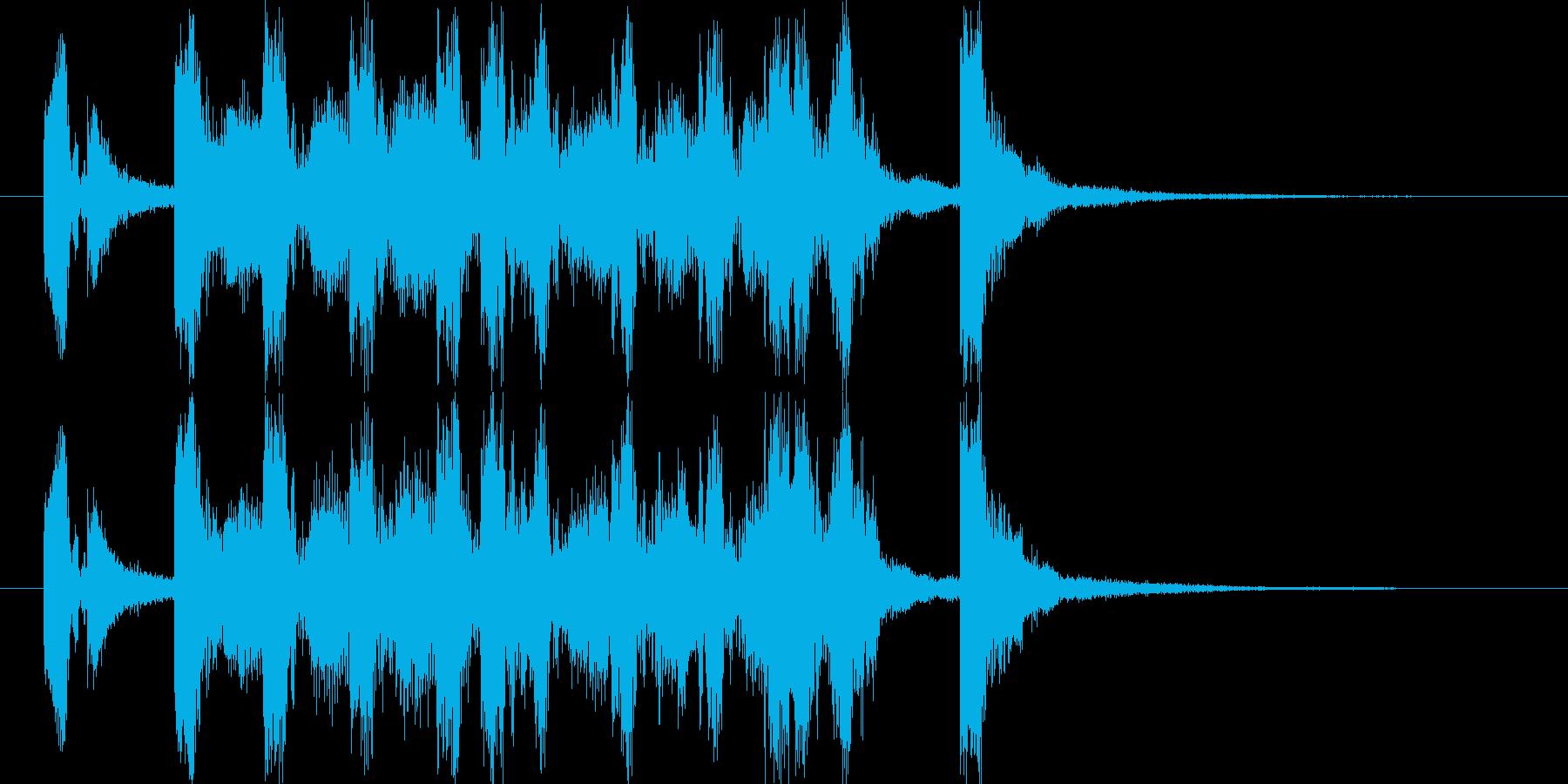 ポップな4つ打ち系ジングル(5秒版)の再生済みの波形
