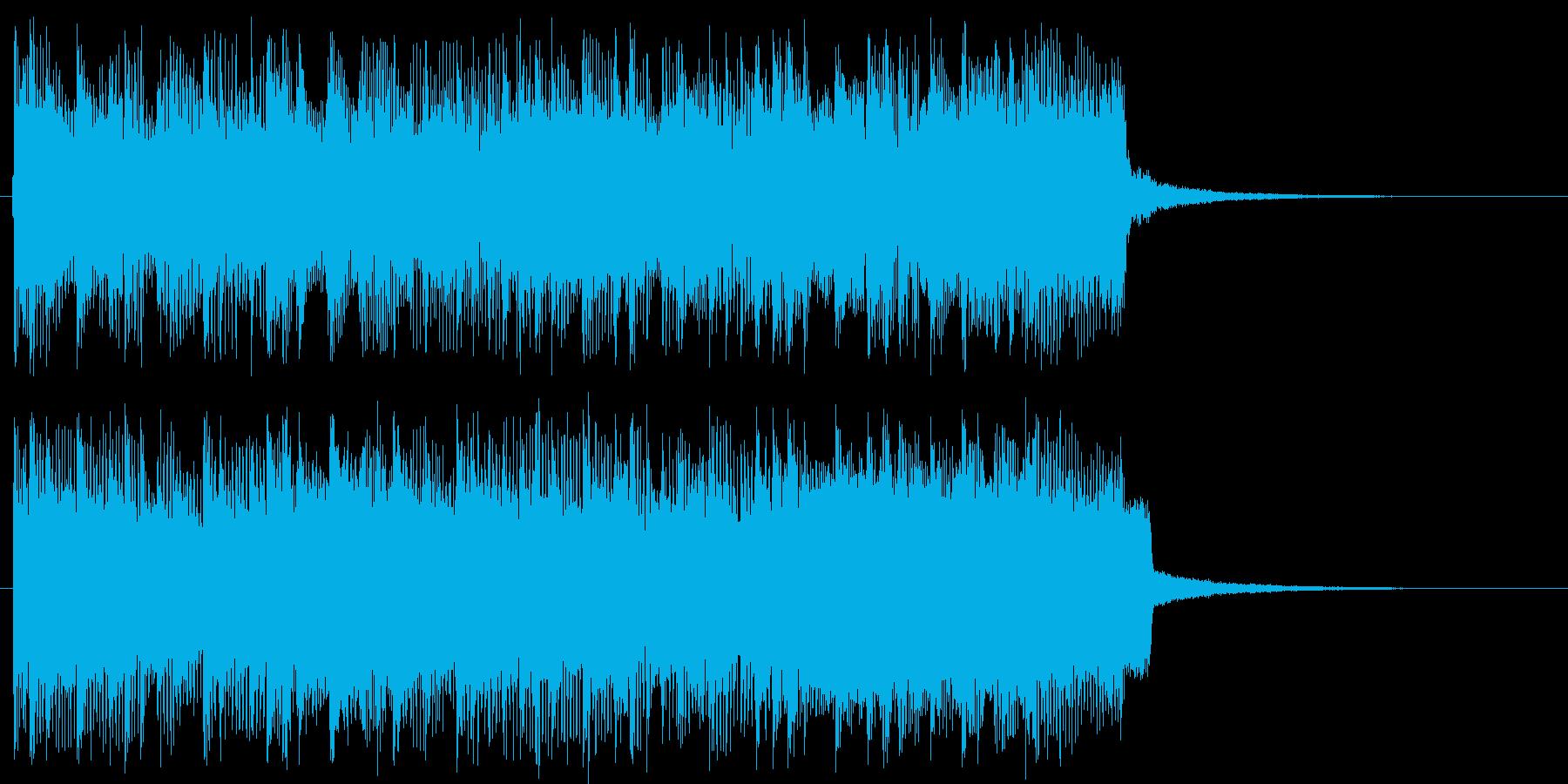 わくわく感のギターロックジングル短めの再生済みの波形