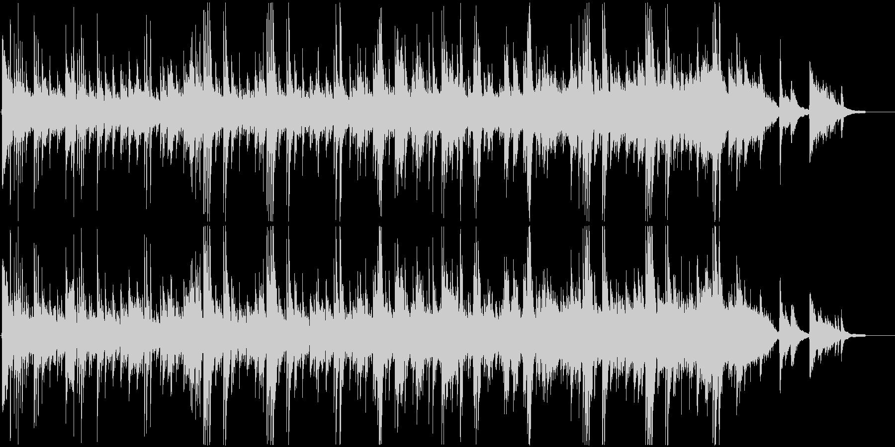 癒し系アコースティック・ギターバラードの未再生の波形
