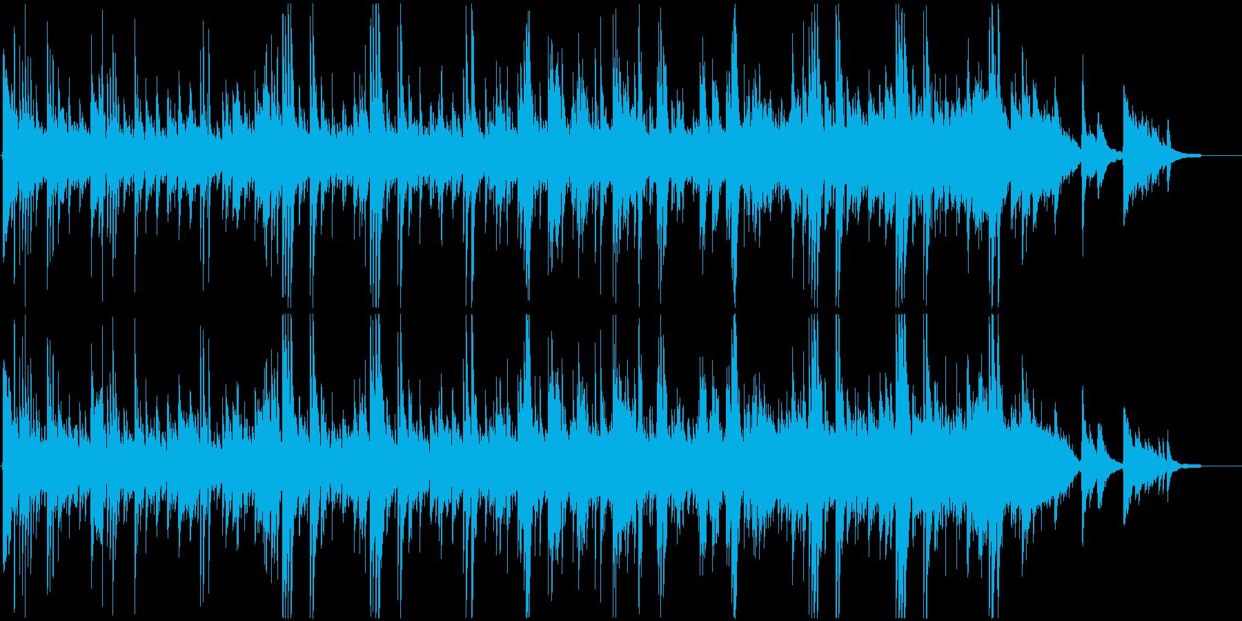 癒し系アコースティック・ギターバラードの再生済みの波形