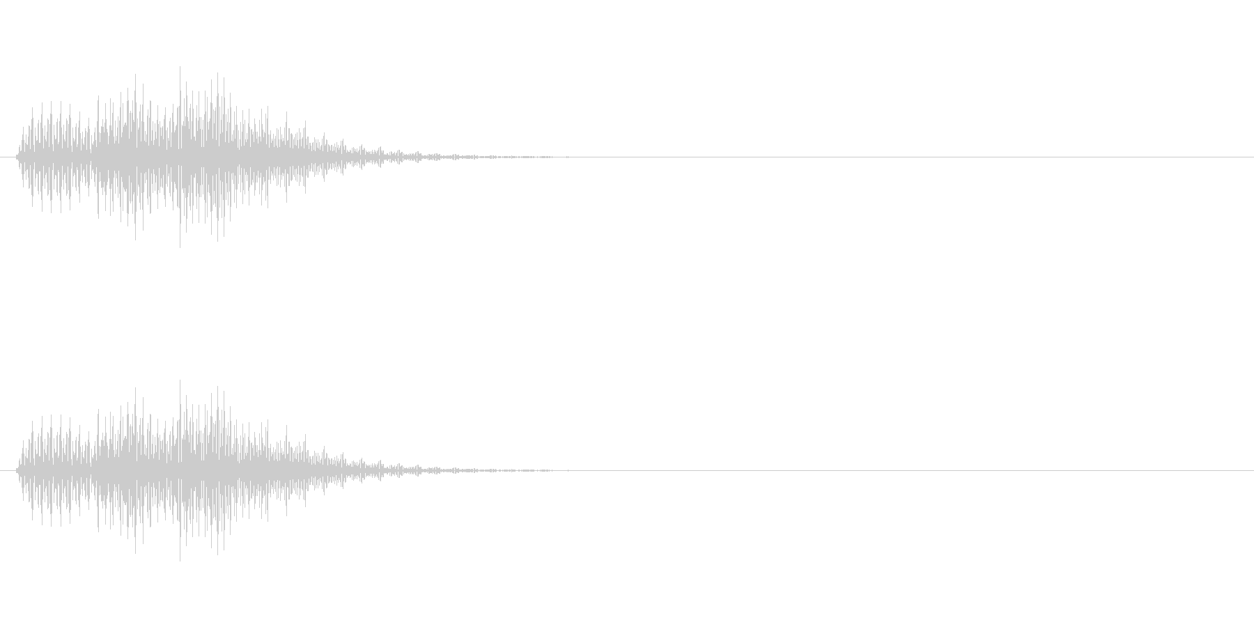 「ドリリン」 決定音2 の未再生の波形
