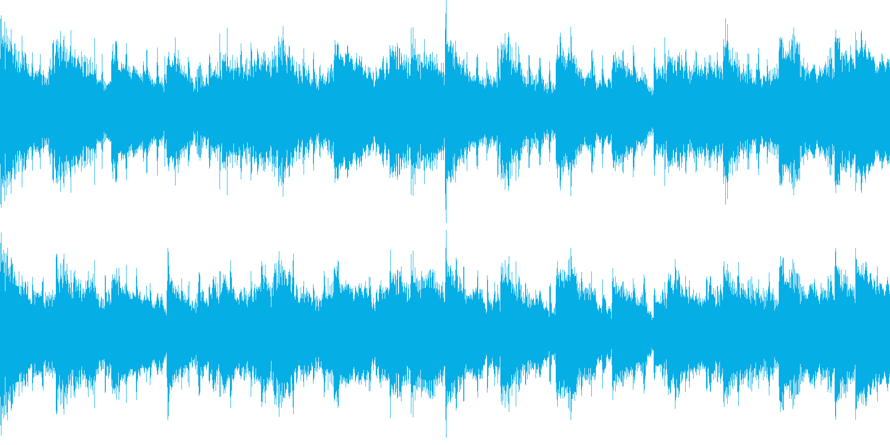クラップ(拍手)を基調とし、変奏させた…の再生済みの波形