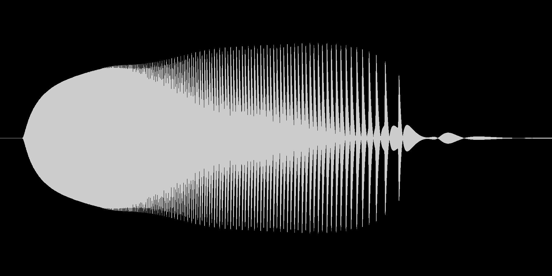 テルミンピヨン着地音ロボット足音ボタンの未再生の波形