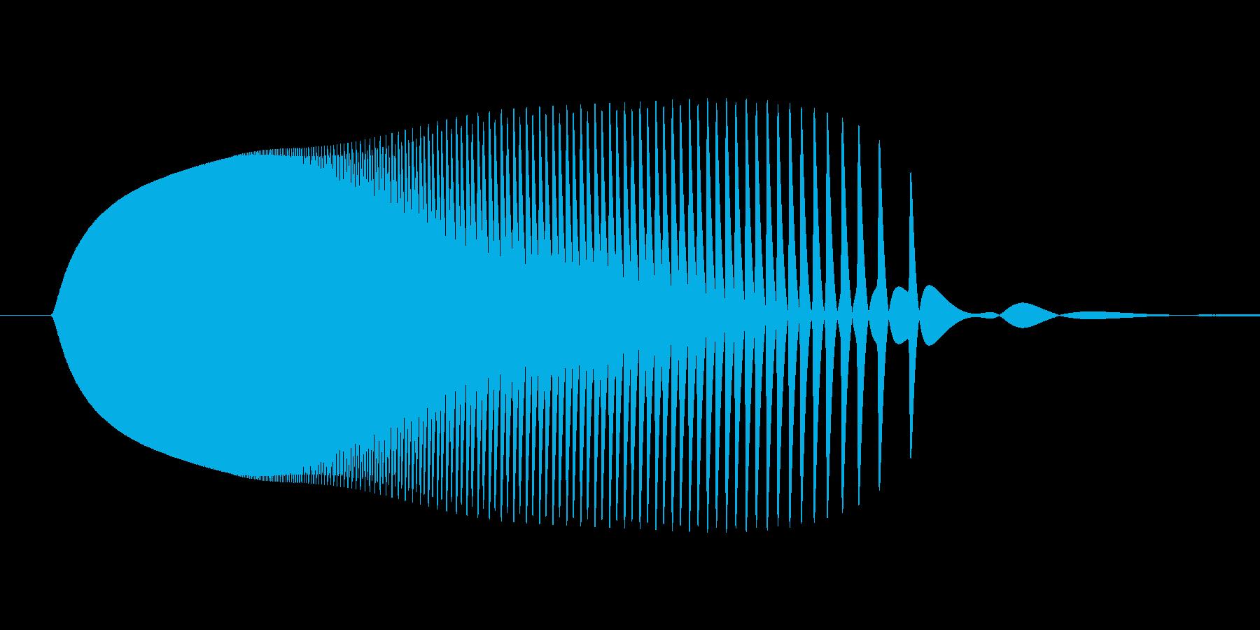 テルミンピヨン着地音ロボット足音ボタンの再生済みの波形