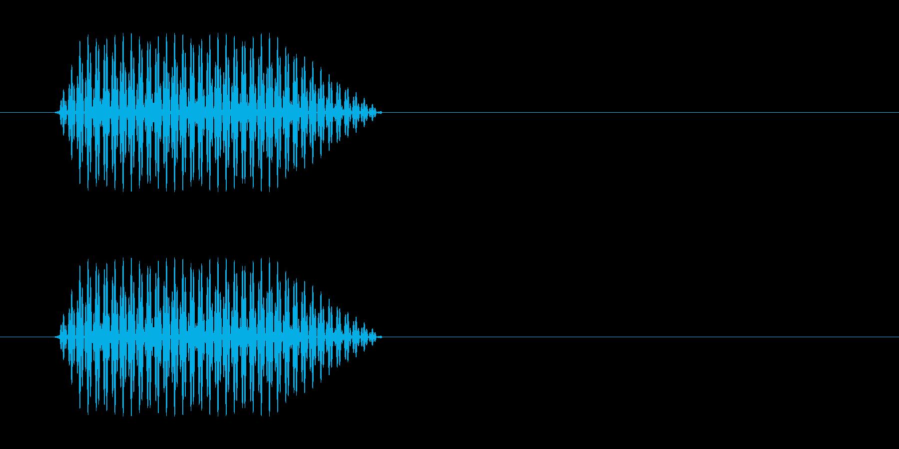 プッ(電話のプッシュ音)の再生済みの波形