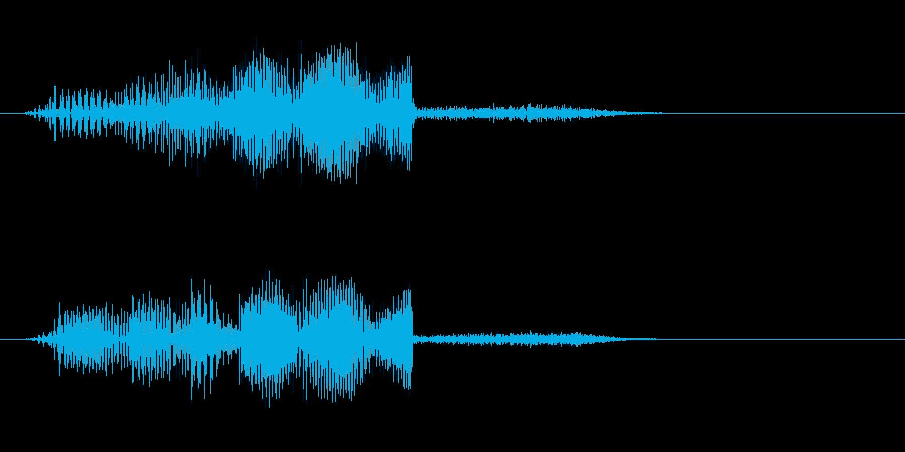 【SE 効果音】ワープ音の再生済みの波形
