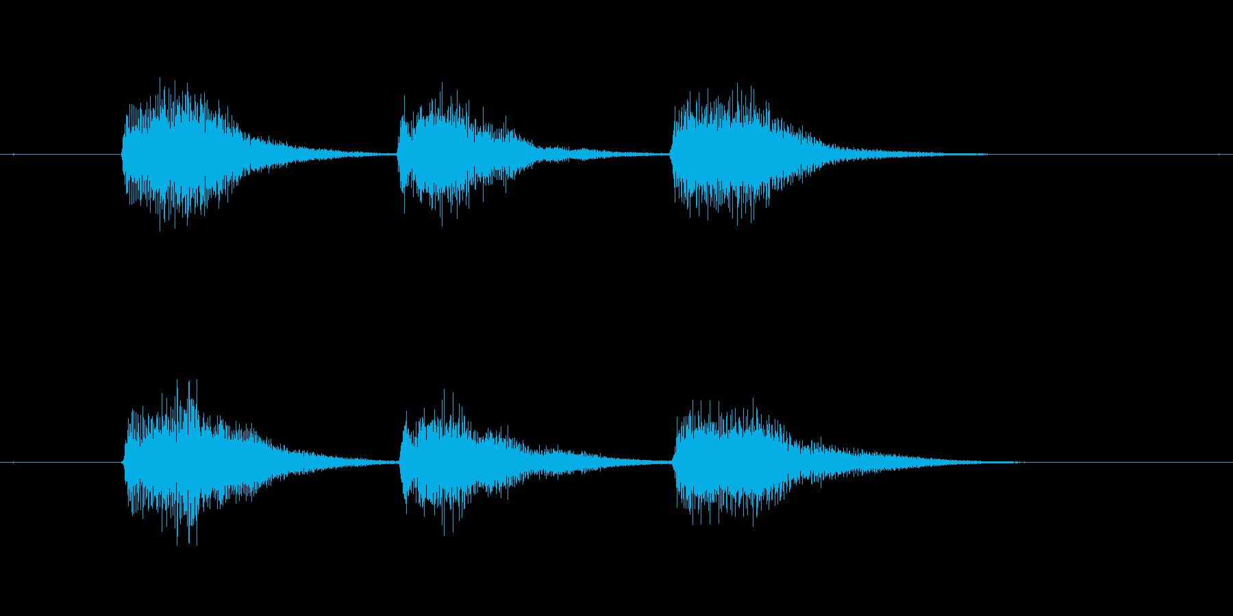 ゲーム等、開始前カウント(3-2-1)Eの再生済みの波形