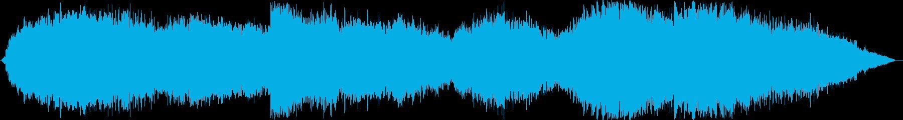 不穏な空気感の音楽 シンセノイズサウンドの再生済みの波形