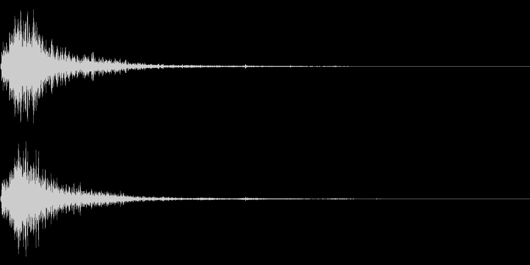 シュッ衝撃音ホラーサスペンスに最適のSEの未再生の波形