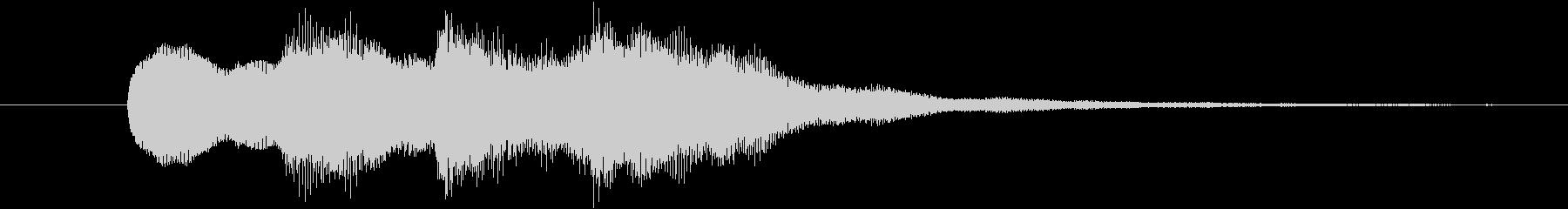正解 ◯ ピンポン×2の未再生の波形