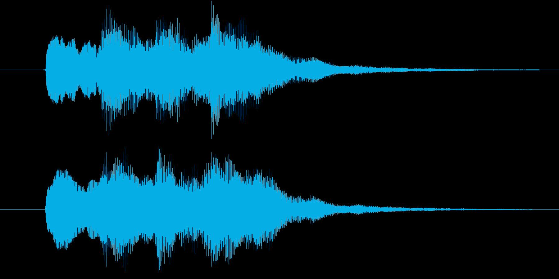 正解 ◯ ピンポン×2の再生済みの波形