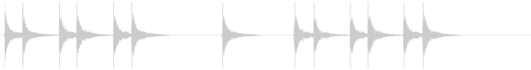 空間的な効果音です。の未再生の波形