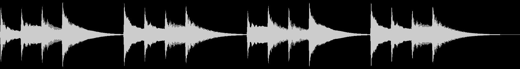 キンコンカンコン。学校チャイム(低)の未再生の波形