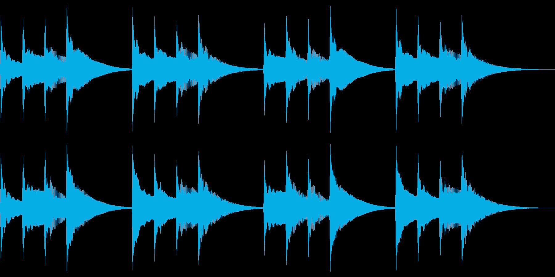 キンコンカンコン。学校チャイム(低)の再生済みの波形