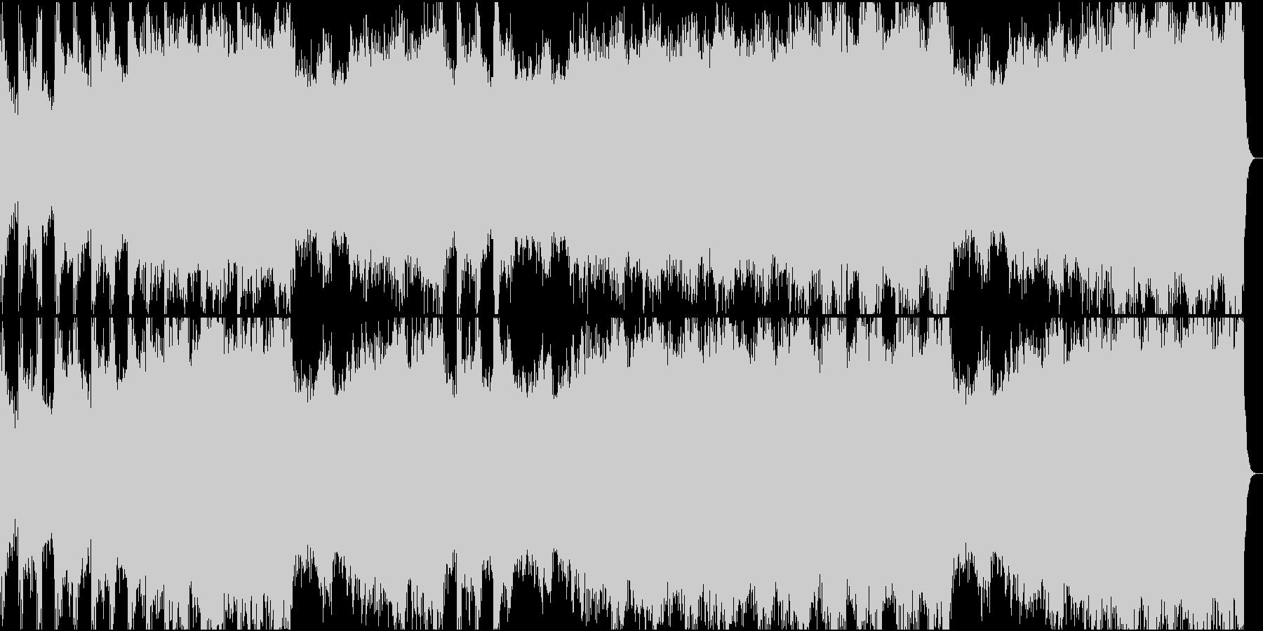 機械的な音で構成したテクノロックの未再生の波形