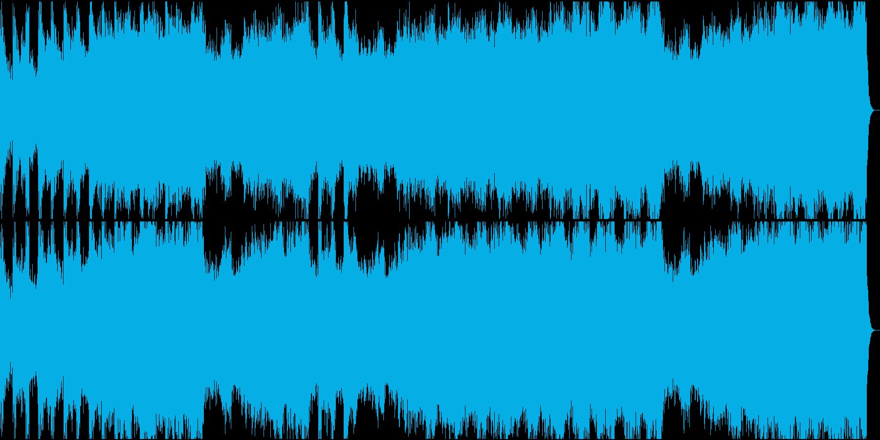 機械的な音で構成したテクノロックの再生済みの波形