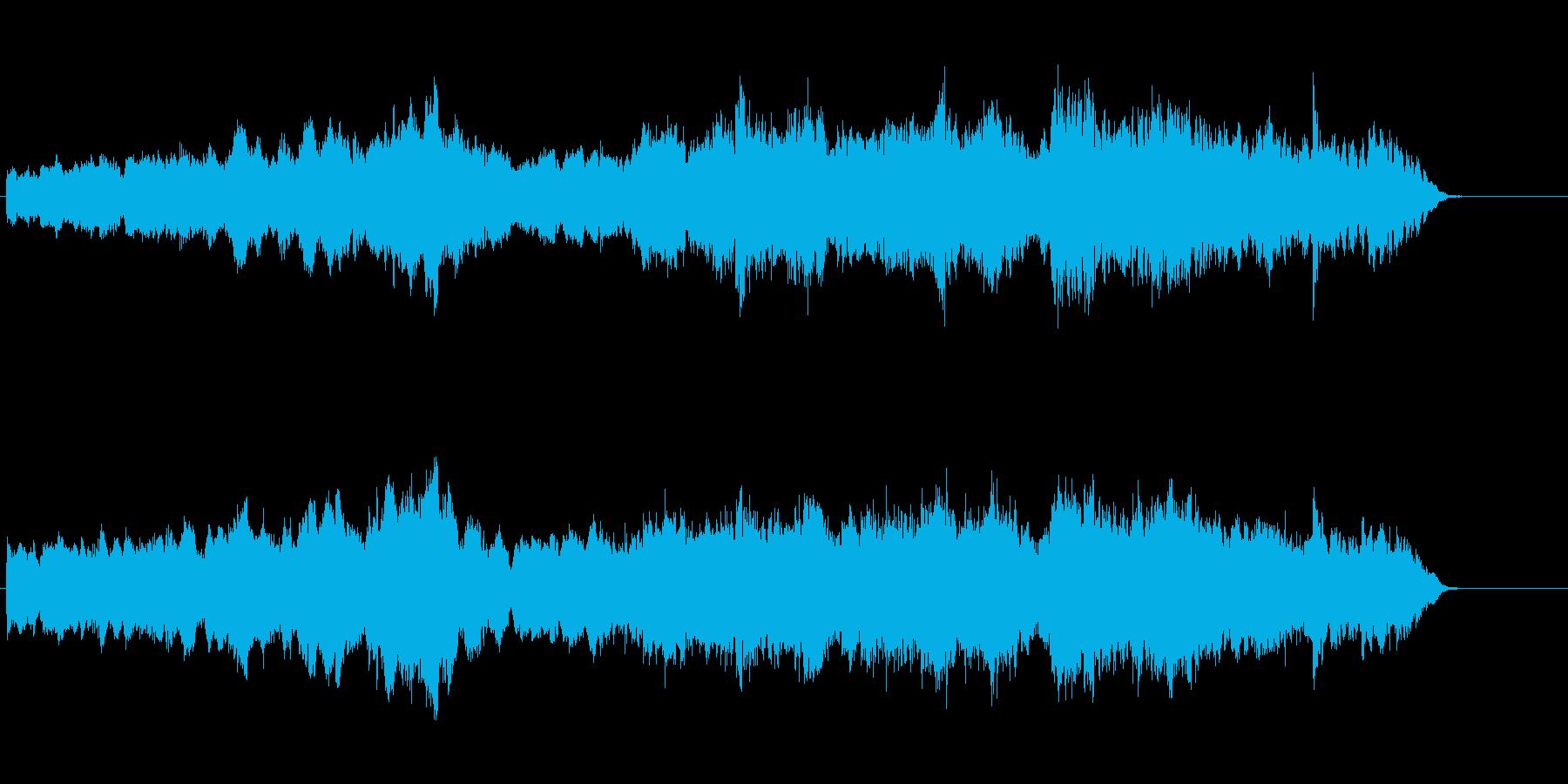 環境音楽(ネイチャー風)の再生済みの波形